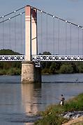 Bridge over the river. Cosne sur Loire, France