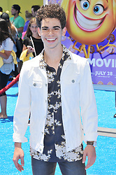 """Cameron Boyce arrives at """"The Emoji Movie"""" Los Angeles Premiere held at Regency Village Theatre in Westwood, CA on Sunday, July 23, 2017. (Photo By Sthanlee B. Mirador) *** Please Use Credit from Credit Field ***"""