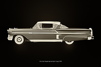 The Chevrolet Impala Special Sport is loved by American car enthusiasts as it is a symbol of a generation of cars; Chevrolet is pre-eminently the affordable car brand for anyone wishing to travel in class with the whole family.<br /> <br /> This painting of a Chevrolet Impala Special Sport Coupe from 1958 can be printed very large on different materials. The work has a panoramic ratio and is very suitable to add a detail in a workspace, showroom or just at home that will impress your visitors. – –<br /> <br /> BUY THIS PRINT AT<br /> <br /> FINE ART AMERICA<br /> ENGLISH<br /> https://janke.pixels.com/featured/chevrolet-impala-special-sport-1958-black-and-white-jan-keteleer.html<br /> <br /> WADM / OH MY PRINTS<br /> DUTCH / FRENCH / GERMAN<br /> https://www.werkaandemuur.nl/nl/shopwerk/Chevrolet-Impala-Special-Sport-1958/742784/132?mediumId=11&size=75x50<br /> <br /> -