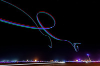 Light trails from a drone.