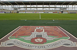 The uncompleted stand at Sixfields, home of Northampton Town - Mandatory byline: Robbie Stephenson/JMP - 07966 386802 - 10/10/2015 - FOOTBALL - Sixfields Stadium - Northampton, England - Northampton Town v Hartlepool - Sky Bet League Two
