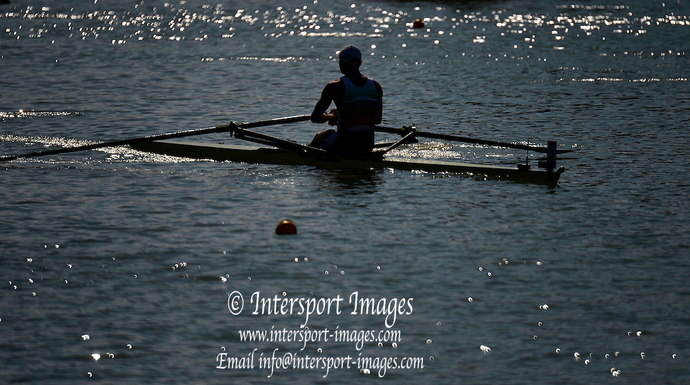 Plovdiv BULGARIA.    Single Traning. 2012 FISA Junior and Non Olympic . Rowing Championships, Plovdiv Rowing Centre  14:38:15  Thursday  16/08/2012  [Mandatory Credit; Peter Spurrier: Intersport Images]