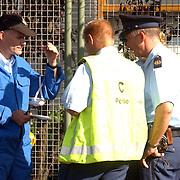 Gas lekkage bij BNI Huizen, milieupolitie, chef van dienst