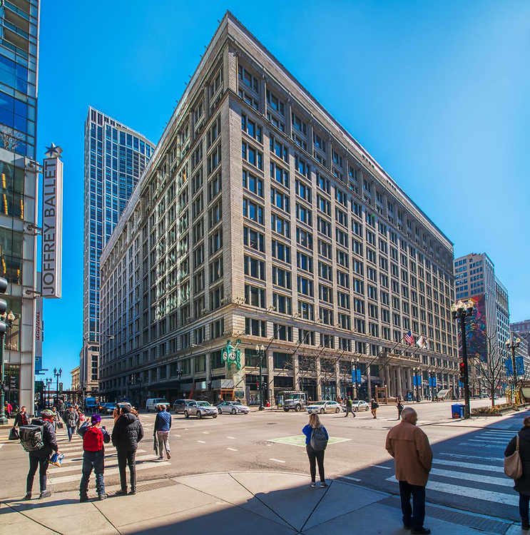 Architectural photography. Chicago, Illinois buildings and structures. National Historic Landmarks.    Digital photography. Exterior Architectural Photography. Buildings, locations, architecture. Chicago, Illinois, built landscape,