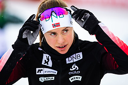 March 8, 2019 - –Stersund, Sweden - 190308 Synnøve Solemdal of Norway ahead of the Women's 7.5 KM sprint during the IBU World Championships Biathlon on March 8, 2019 in Östersund..Photo: Johan Axelsson / BILDBYRÃ…N / Cop 245 (Credit Image: © Johan Axelsson/Bildbyran via ZUMA Press)