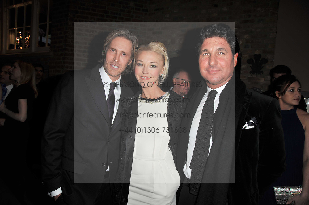 Left to right, Creative Director of Asprey BRUCE HOEKSEMA, TAMARA BECKWITH and GIORGiO VERONI at the BAFTA Nominees party 2011 held at Asprey, 167 New Bond Street, London on 12th February 2011.
