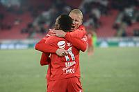 Fotball , 8. november 2019 , Eliteserien , Brann - Odd<br /> Daouda Bamba , Brann jubel scoring<br /> Kristoffer Barmen , Brann
