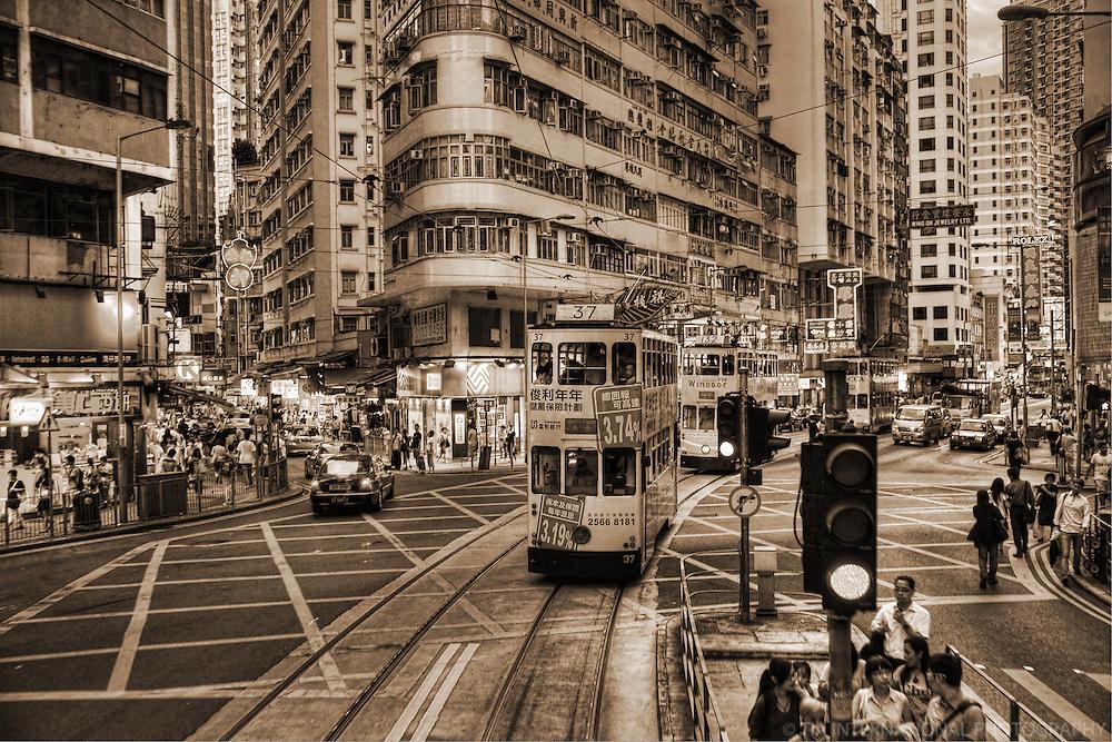 Wan Chai District (sepia)