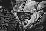 French guiana, dorlin, inini.<br /> <br /> Exploitation aurifere. <br /> Les rotations d'hélicoptere assurent l'installation, l'approvisionnement des sites et l'acheminement de la production…