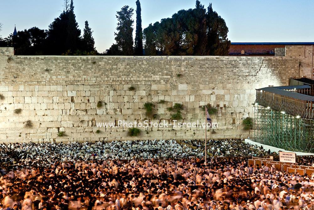 Jews Pray at the wailing wall, Old City, Jerusalem