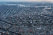 Nederland, Noord-Holland, Amsterdam, 16-01-2014;<br /> Overzicht Amsterdam grachtengordel, centrum, Noord en het IJ (boven in beeld). Vijzelgracht (loodrecht midden beneden).<br /> Overview Amsterdam: ring of canals, center, North and IJ (water, top picture).<br /> luchtfoto (toeslag op standard tarieven);<br /> aerial photo (additional fee required);<br /> copyright foto/photo Siebe Swart
