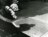 1933 Jean Harlow's hand and footprint ceremony at Grauman's Chinese Theater