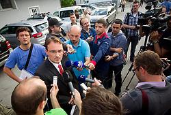 Jani Zivko, vice-president of SZS during press conference of Ski Association of Slovenia (SZS) after resignation of T. Lovse, president of SZS after his affair with J. Kocijancic, on June 5, 2012 at SZS, Ljubljana, Slovenia. (Photo by Vid Ponikvar / Sportida.com)