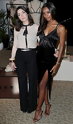 Designer Lisa Chavy and VictoriaÕs Secret Angel Jasmine Tookes at the brandÕs New Bond Street store in London to celebrate them introducing the LIVY lingerie brand.
