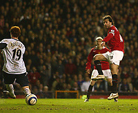 Photo: Aidan Ellis.<br /> Manchester United v West Ham United. The Barclays Premiership. 29/03/2006.<br /> Manchester's ruud Van Nistelrooy scores the first goal