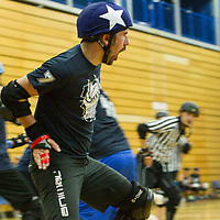 Men Behaving Derby take on Oxford Men's Roller Derby in the British Champs 2017 Playoffs at Fenton Manor, Stoke-on-Trent, 2017-09-16