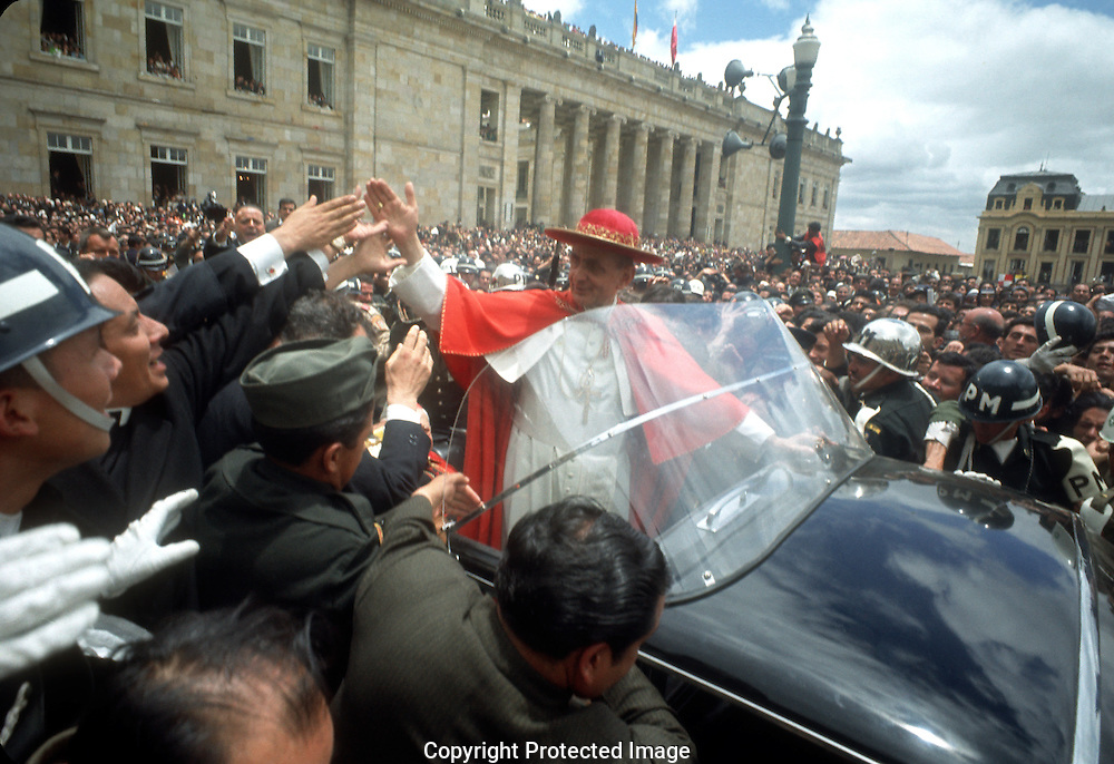 A 29MG IMAGE OF:.Pope Pius XII in Bogota, Columbia in August 1968....Photo by Dennis Brack B 9