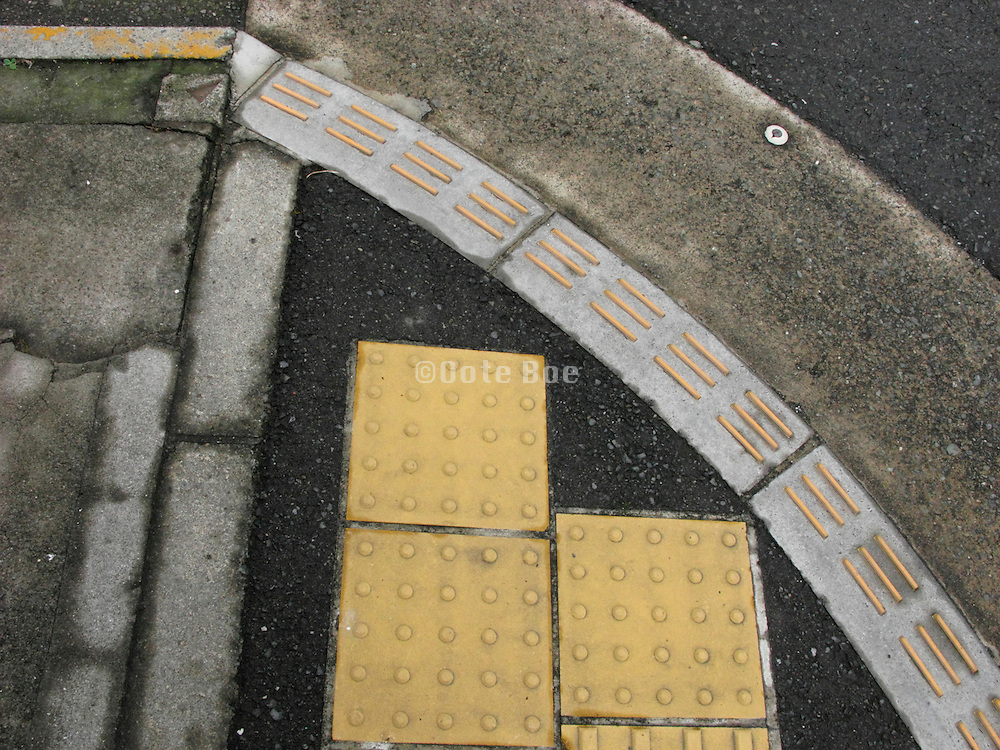 yellow security tiles for the blind Japan