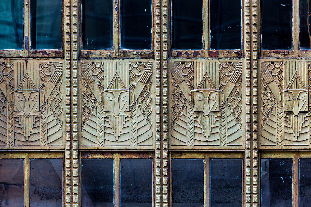 An ArtDeco bas relief on the 42nd Street facade of the spectacular but often overlooked Chanin Building that was briefly, when it was built in 1929, the third tallest building in the world.