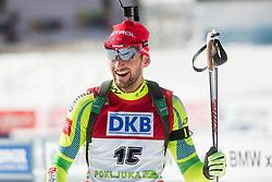 FAK Jakov of Slovenia in finish arrea during Men 12.5 km Pursuit competition of the e.on IBU Biathlon World Cup on Saturday, March 8, 2014 in Pokljuka, Slovenia. Photo by Vid Ponikvar / Sportida