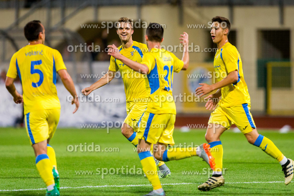 Zan zuzek of NK Domzale during football match between NK Domžale and NK Aluminij in 6th Round of Prva liga Telekom Slovenije 2017/18, on August 20, 2017 in Sports park Domzale, Domzale. Photo by Ziga Zupan / Sportida