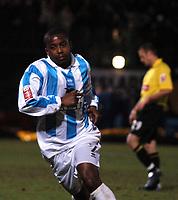 Fotball<br /> England 2004/2005<br /> Foto: SBI/Digitalsport<br /> NORWAY ONLY<br /> <br /> Coca Cola Championship<br /> 03/01/2005<br /> <br /> Brighton v Watford<br /> <br /> Leon Knight shows no emotion after scoring the winner for Brighton.