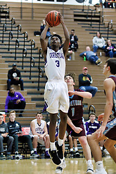 27 December 2018: Peoria Christian Chargers v SJO (St. Joseph-Ogden) Spartans. State Farm Holiday Classic Coed Basketball Tournament at Normal West High School in Normal Illinois