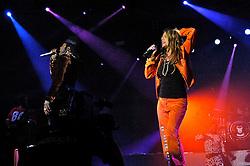 Fergie (D) e Will.I.Am durante o show da banda Black Eyed Peas, no auditorio da FIERGS, em Porto Alegre-RS. FOTO: Luiz A. Guerreiro/Preview.com