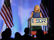 Blue Star Mother and America's Second Lady Dr. Jill Biden speaks at an ESGR event in Washngton, D.C.  Photo by Johnny Bivera