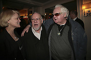 Elise Russell, Sir Peter Blake and Ken Russell, The South Bank Show Awards, Savoy Hotel. London. 23 January 2007.  -DO NOT ARCHIVE-© Copyright Photograph by Dafydd Jones. 248 Clapham Rd. London SW9 0PZ. Tel 0207 820 0771. www.dafjones.com.