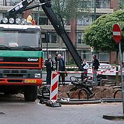 Gasleiding stukgetrokken bij plaatsing ondergrondse vuilcontainers Kostmand Huizen