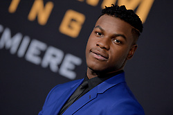 John Boyega attends the Pacific Rim Uprising global premiere at the TCL Chinese Theatre on March 21, 2018 in Los Angeles, California. Photo by Lionel Hahn/AbacaPress.com