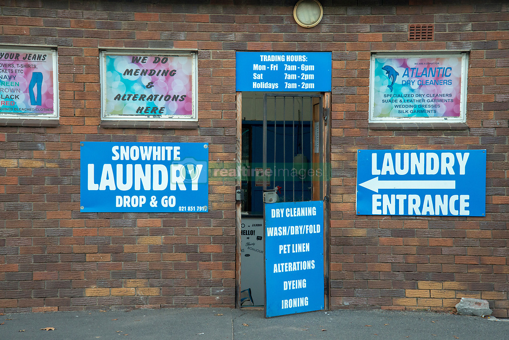 A drop and go laundry service, in Somerset West, Western Cape, on May 11, 2020. South Africa's lockdown, eased to Level 4 from Level 5, is allowing some businesses to open their doors, many with modified service delivery. The South African government, which was initally lauded for it's quick response to COVID-19 is facing increased criticism for the prolonged lockdown, during which many people have lost business and income, and some are starving. PHOTO: EVA-LOTTA JANSSON