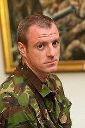 Stewart Kelly..Exercise Guards Warrior with the Scots Guards at their Catterick base..Pic ©2010 Michael Schofield. All Rights Reserved.