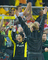 03.10.2010, Signal Iduna Park, Dortmund, GER, 1.FBL, Borussia Dortmund vs Bayern Muenchen im Bild Jürgen Klopp ( Dortmund Trainer / Coach ) ) jubelt nach dem Spiel     EXPA Pictures © 2010, PhotoCredit: EXPA/ nph/  Kokenge+++++ ATTENTION - OUT OF GER +++++