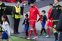 Atletico de Madrid Diego Costa during UEFA Europa League match between Atletico de Madrid and Sporting de Lisboa at Wanda Metropolitano in Madrid, Spain. April 05, 2018. (ALTERPHOTOS/Borja B.Hojas)