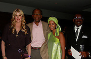 **EXCLUSIVE**.Daryl Hannah, Sidney Poitier, Gelila Assefa and Mr. Wilson Jeudi, Mayor of the City of Delmas, Haiti..Pras Michel of The Fugees Honoring The First Ladies of Africa at a Cocktail Reception in partnership US Doctors For AFRICA..WP Wolfgang Puck Restaurant..Pacific Design Center..West Hollywood, CA, USA..Monday, April 20, 2009..Photo By Celebrityvibe.com.To license this image please call (212) 410 5354; or Email: celebrityvibe@gmail.com ; .website: www.celebrityvibe.com.