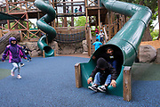 Students explore and learn at Happy Hollow Park & Zoo in San Jose, California, on May 15, 2019. (Stan Olszewski/SOSKIphoto)