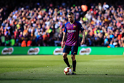 March 30, 2019 - Barcelona, BARCELONA, Spain - 18 Jordi Alba of FC Barcelona during the ''Derby'' of La Liga match between FC Barcelona and RCD Espanyol in Camp Nou Stadium in Barcelona 30 of March of 2019, Spain. (Credit Image: © AFP7 via ZUMA Wire)