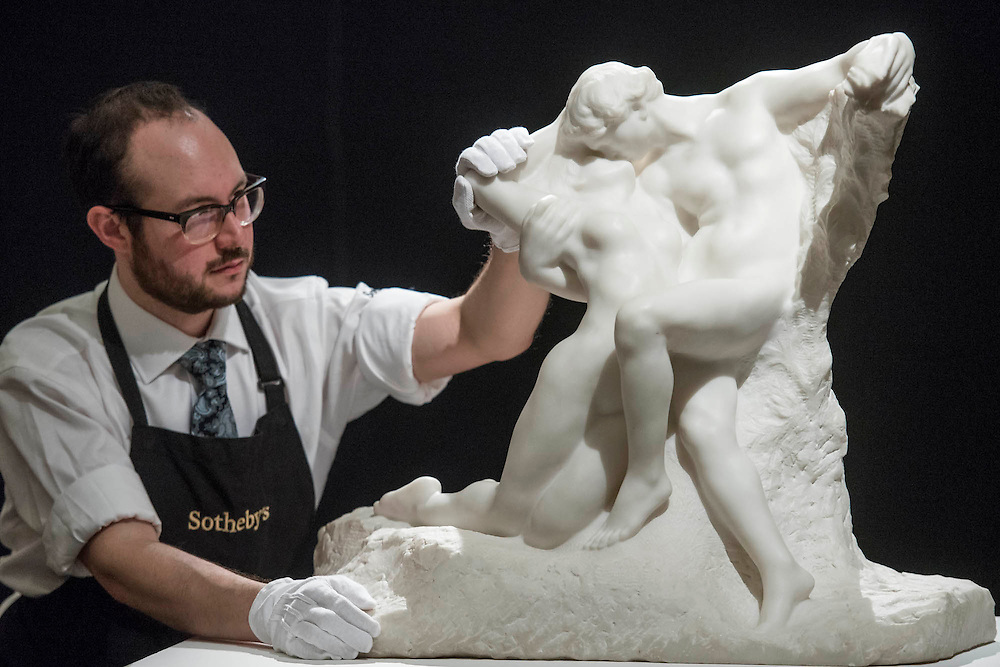 AUGUSTE RODIN L'Éternel Printemps Conceived in 1884 and carved in 1901-02. Estimate US$ 8,000,000 – 12,000,000 - Sotheby's previews New York sales of Impressionist, Modern and Contemporary Art.   London Exhibition Dates 9- 13 April 2016, New York Sale Dates Impressionist & Modern Art Evening Sale: 9 May 2016 and Contemporary Art Evening Auction: 11 May 2016