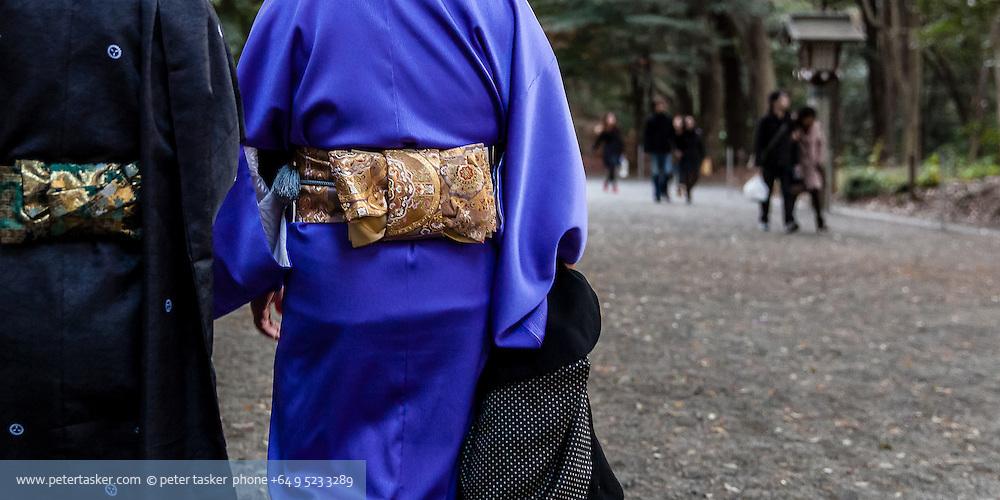 Kimonos, Yoyogi Park, Harajuku, Tokyo, Japan.