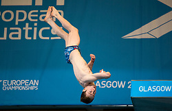 France's Benjamin Auffret competing in the Men's 10m Platform Final during day eleven of the 2018 European Championships at the Royal Commonwealth Pool, Edinburgh. PRESS ASSOCIATION Photo. Picture date: Sunday August 12, 2018. See PA story DIVING European. Photo credit should read: Ian Rutherford/PA Wire. RESTRICTIONS: Editorial use only, no commercial use without prior permission