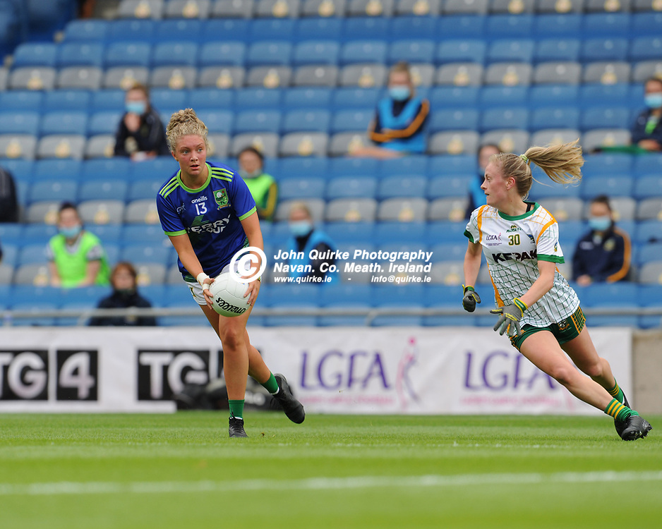 26-06-21. Meath v Kerry - Lidl Ladies National Football League Division 2 Final at Croke Park.<br /> Niamh Ni Chonchuir, Kerry in action against Meath.<br /> Photo: John Quirke / www.quirke.ie<br /> ©John Quirke Photography, 16 Proudstown Road, Navan. Co. Meath. (info@quirke.ie / 046-9028461 / 087-2579454).
