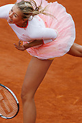 Rolland Garros. Paris, France. May 31st 2006.  Sharapova serves against Benesova during the 2nd tour of the tennis french open. Sharapova won 6-4, 6-1