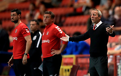 Charlton Athletic caretaker manager Lee Bowyer gestures on the touchline