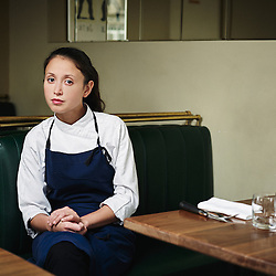 Paris, France. October 13, 2014. Katia Levha, chef at Le Servan. Photo: Antoine Doyen