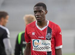 Brandon Onkony (FC Helsingør) under træningskampen mellem FC Helsingør og Næstved Boldklub den 19. august 2020 på Helsingør Stadion (Foto: Claus Birch).