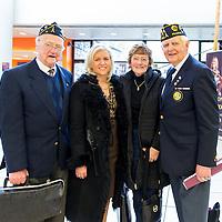 Joe Willis with his wife, Pat Mulcahy and Mayor Ann Norton