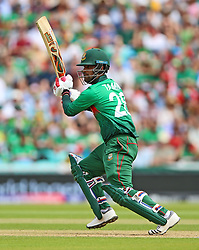 Bangladesh's Tamim Iqbal during the ICC Cricket World Cup group stage match at The Oval, London.