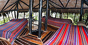 At Bellavista Cloud Forest Reserve, the Dome has dormitory lodging options in the forest canopy, near Quito, Ecuador, South America. Also stay in comfortable private rooms. Web site: bellavistacloudforest.com.  Panorama was stitched from 4 overlapping photos.